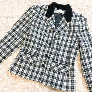 Vintage McNaughton Black & White Plaid Blazer